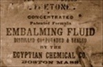 Sepia Embalming Fluid Label Fading